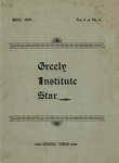 Greely Institute Star May 1899 Vol. 4 No. 6 by Greely Institute