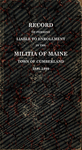 Record of Persons Liable to Enrollment in the Militia of Maine, Town of Cumberland, 1881-1899