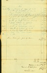 Bill and Settlement for Supplies for the Town Farm, May 27, 1844 by Cumberland (Me.)