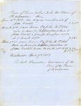 Harpswell Bill for Supplies Furnished to Jesse Easters, April 9, 1851 by Cumberland (Me.)
