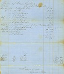 Ammi Stores Bill for Supplies for Town Poor, December 2, 1854 by Cumberland (Me.)