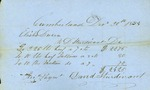 David Sturdivant Bill for Supplies for the Town Poor, December 30, 1854 by Cumberland (Me.)