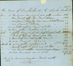 Charles Poland Bill for Supplies for Town Poor, March 26, 1852 by Cumberland (Me.)