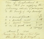 Ebenezer Hill Bill for Supplies for the Family of Miss Kenedy by Cumberland (Me.)