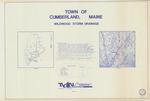 Plan of Wildwood Storm Drainage, Wildwood Blvd., Pine Lane, Birch Lane and Ocean Terrace, Cumberland, Maine, 1987