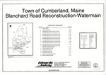 Plan of Blanchard Road Reconstruction-Watermain, Cumberland, Maine, 2006