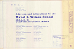 Plan of Additions and Alterations to Mabel I. Wilson School, Design Development Submission, Tuttle Road, Cumberland, Maine, 1992