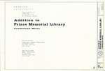 Plan of Addition to Prince Memorial Library, Main Street, Cumberland, Maine, 1995