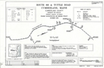 Plan of Route 88 and Tuttle Road Roadway Reconstruction and Widening Project, Cumberland, Maine, 2009