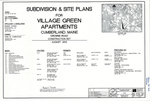 Plan of Village Green Apartments, Drowne Road, Cumberland, Maine, 2012