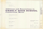 Plan of Greely High School Renovations and Additions, Design Development Supplemental, Main Street, Cumberland, Maine, 1990