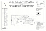 Plan of Old Colony Estates, Blackstrap Road, Cumberland, Maine, 2010