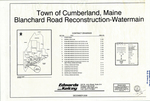 Plan of Blanchard Road Reconstruction-Water Main, Cumberland, Maine, 2006