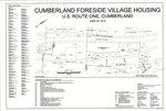 Plan of Cumberland Foreside Village Housing, U.S. Route 1, Cumberland, Maine, 2015 by Pinkham & Greer Civil Engineers