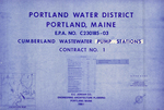 Plan of Cumberland Wastewater Pump Stations, Contract No. 1, E.P.A. No. C230185-03, Cumberland, Maine, 1983