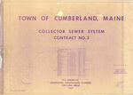 Plan of Cumberland Collector Sewer System, Contract No. 3, Cumberland, Maine, 1983