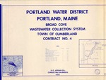 Plan of Broad Cove Wastewater Collection System, Contract No. 4, Cumberland, Maine, 1983