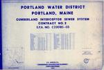 Plan of Cumberland Interceptor Sewer System, Contract No. 2, E.P.A. No. C230185-03, Cumberland, Maine, 1983