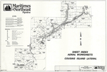 Plan of Maritimes and Northeast Pipeline, Proposed Phase II, Cousins Island Lateral, Sheet Index Aerial Worksheets, Maine, 1997