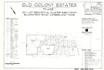 Plan of Old Colony Estates, Phase I, Blackstrap Road, Cumberland, Maine, 2002