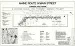 Plan of Maine Route 9/Main Street Grading, Signal and Pavement Widening Project, Cumberland, Maine, 2002