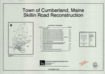 Plan and Profile of Skillin Road Reconstruction, Skillin Road, Cumberland, Maine, 2006