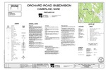 Cover Sheet, General Notes, and Legend, Orchard Road Subdivision, Cumberland, Maine, 2017