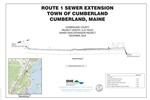 Route 1 Sewer Main Extension Project, Cumberland, Maine, 2018