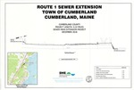 Route 1 Sewer Extension, Sewer Main Extension Project, Cumberland, Maine, 2018