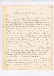 1863-03-21  Lieutenant E.M. Shaw to Adjutant General Hodsdon regarding restlessness within the regiment
