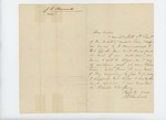 Undated - J.E. Bennoch writes his uncle and asks for a commission as 4th Lieutenant