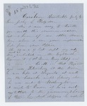 Undated (July 4 circa 1864) - G.L. Jennison requests pay for his son E. Everett Jennison