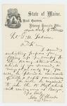 1862-07-09  Adjutant General John L. Hodsdon writes to Lieutenant George W. Sabine promising a position as captain if he fills the regiment