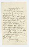 1862-07-14  Mr. Sayward recommends his nephew Frank Webster to Governor Washburn