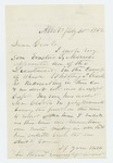 1862-07-30 J.S. Monroe requests a commission for his son Erastus T. Monroe by J. S. Monroe