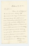 1862-11-18  George F. Talbot recommends George W. Sabine of Eastport for commission as Major