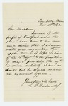 1862-11-28 L.D. Wadsworth, Jr. writes on behalf of Eastport citizens to recommend Captain George Sabine of the 18th Maine Regiment for appointment as Major in the artillery regiment by L. D. Wadsworth Jr.