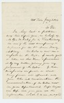 1863-01-02  H. Richardson recommends appointment of George Oakes as Lieutenant