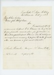 1863-02-17  Major Charles Hamlin recommends Corporal Fernando C. Plummer for promotion