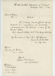 1863-02-18  Special Order 9 regarding honorable discharge of Captain Samuel A. Colby