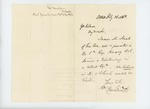 1863-02-26  Israel Washburn writes to Governor Coburn recommending James M. Neal for Lieutenant in the USCT
