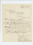 1863-03-03  Captain George W. Sabine recommends Private Calvin R. Gardner for a position in the USCT