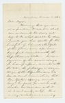 1863-03-05  W. Smith recommends Edward M. Yates to Mr. Dyer for a position in the regiment