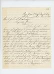 1863-03-18  Lieutenant and Adjutant Stephen C. Talbot writes regarding the enlistment of musician Nathaniel R. Witham