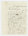1863-03-30  Hudson Sawyer inquires about position as commissioned officer