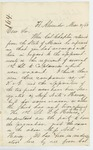 1863-03-31  Major Charles Hamlin inquires about promised promotions in Company G.