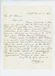 1863-03-31  William Reed recommends Colonel A. Drummond's son Thomas for promotion