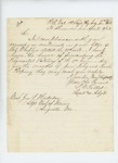 1863-04-03  Lieutenant and Adjutant Stephen Talbot sends the regimental returns for January-March 1863