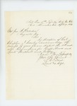 1863-04-13  Adjutant Stephen Talbot acknowledges receipt of commissions for Howes, Wardwell, and Godfrey