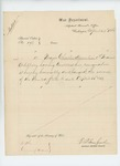 1863-04-28  Special Order 193 honorably discharging Major Charles Hamlin from service